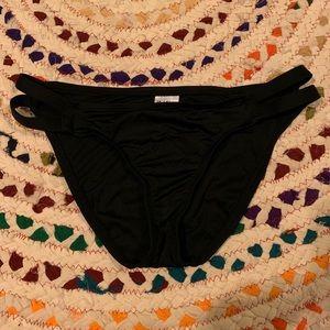 Mossimo black double strap bikini bottoms
